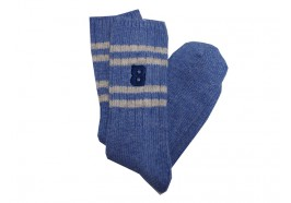 Wool socks light blue